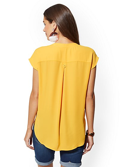 e3de3b824790d2 ... Button-Front Blouse - Soho Soft Shirt - New York & Company