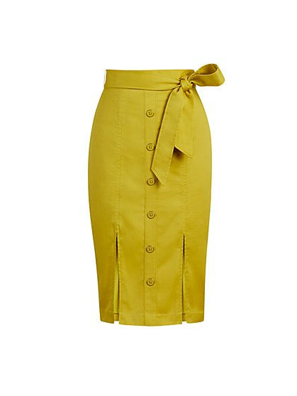 Button-Front Skirt - New York & Company