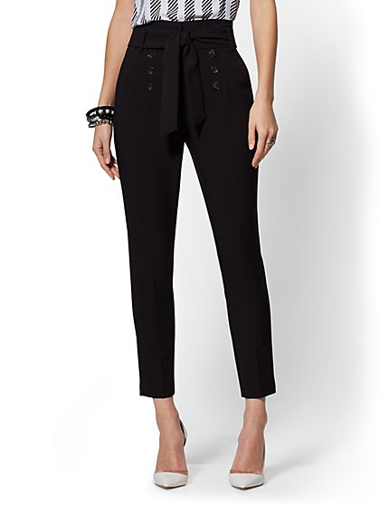 Button-Front Slim Pant - 7th Avenue - New York & Company