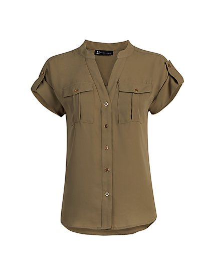 Button-Tab Shirt - New York & Company