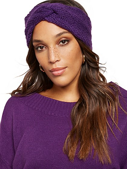 Cable-Knit Head Wrap - New York & Company