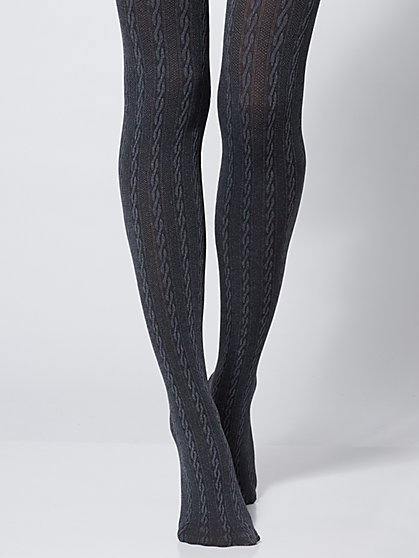 Cable-Knit Tights - New York & Company