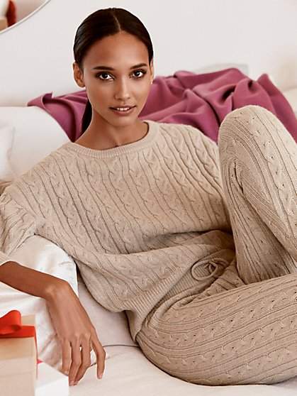 Cabled Sweater-Knit Pullover - New York & Company