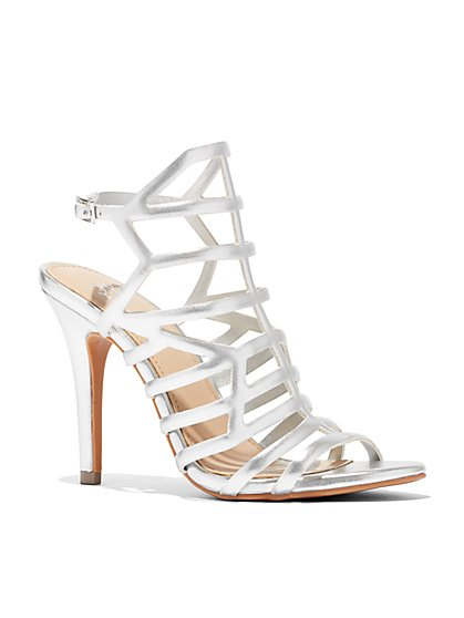 Caged High-Heel Sandal - New York & Company