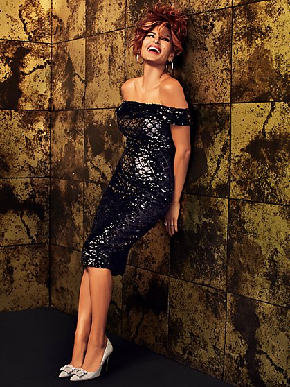Caitriona Sequin Sheath Dress - Eva Mendes Party Collection - New York & Company