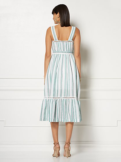 1ea24bbf1 ... Cameron White Stripe Maxi Dress - Eva Mendes Collection - New York &  Company