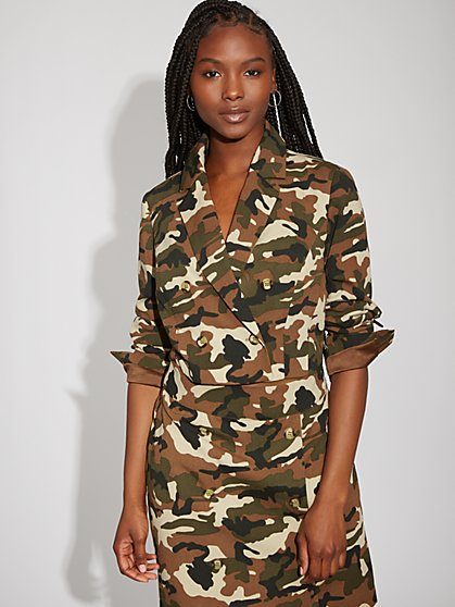 Camo Crop Jacket - Gabrielle Union Collection - New York & Company