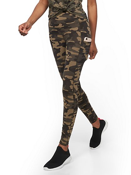 Camo High-Waisted Pocket Legging - Soho Street - New York & Company