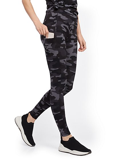 Camo High-Waisted Pocket Legging - New York & Company