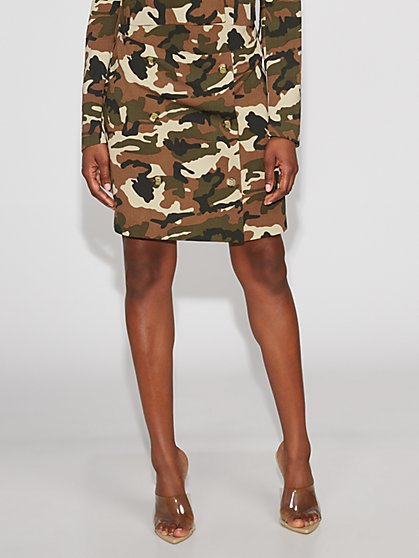 Camo Mini Skirt - Gabrielle Union Collection - New York & Company