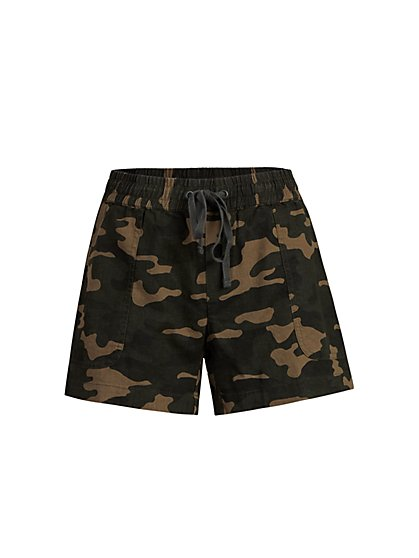 Camo-Print Drawstring Short - New York & Company
