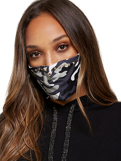 Camo-Print Face Mask - New York & Company