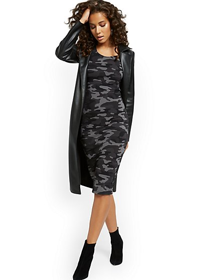 Camo-Print Midi Dress - Everyday Collection - New York & Company
