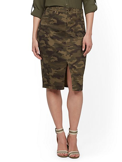 Camo-Print Skirt - New York & Company