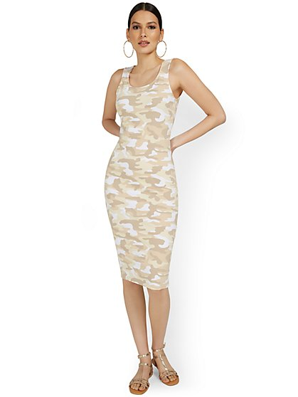 Camo-Print Tank Midi Dress - Everyday Collection - New York & Company