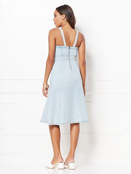 534372fb655 ... Candace Denim Flare Dress - Eva Mendes Collection - New York   Company