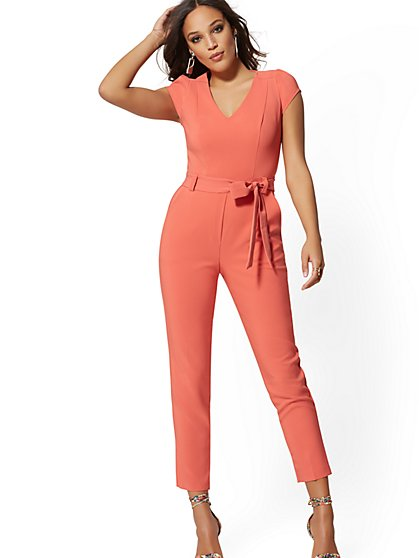 Cap-Sleeve Madie Jumpsuit - 7th Avenue - New York & Company
