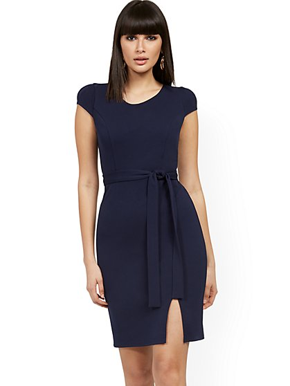 Cap-Sleeve Sheath Dress - Magic Crepe® - New York & Company
