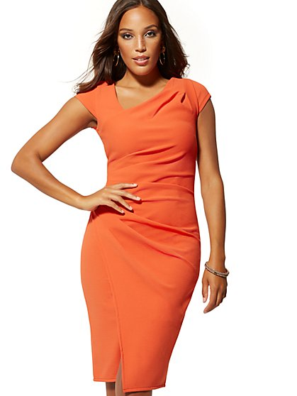 Cap Sleeve Sheath Dress - New York & Company
