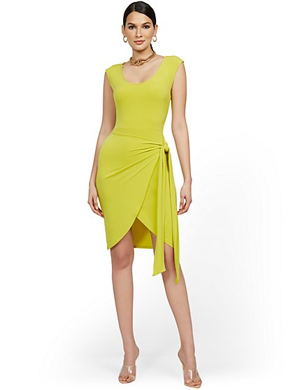 Cap-Sleeve Wrap Dress - New York & Company