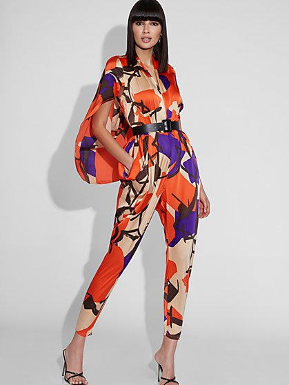 Caped V-Neck Jumpsuit - Gabrielle Union Collection - New York & Company