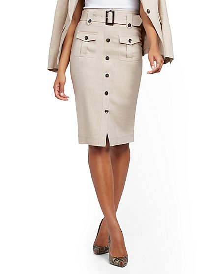 Cargo Pencil Skirt - 7th Avenue - New York & Company
