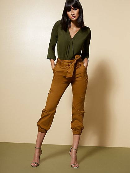 Cargo Slim Ankle Pant - 7th Avenue - New York & Company