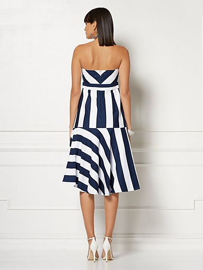 b51438b5ae ... Carli Stripe Strapless Dress - Eva Mendes Collection - New York    Company