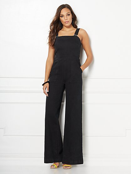 Carol Black Denim Jumpsuit - Eva Mendes Collection - New York & Company