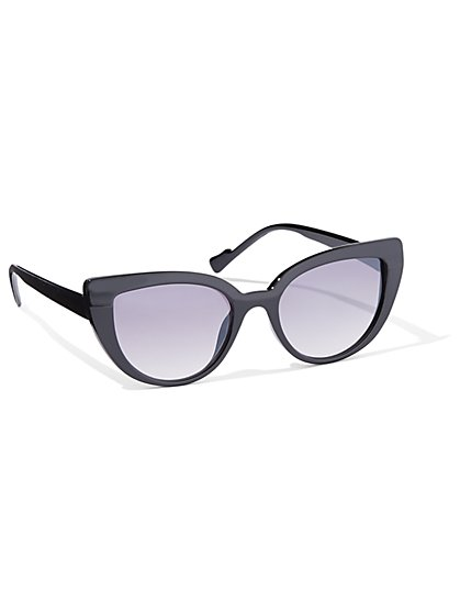 Cat-Eye Black Sunglasses - New York & Company