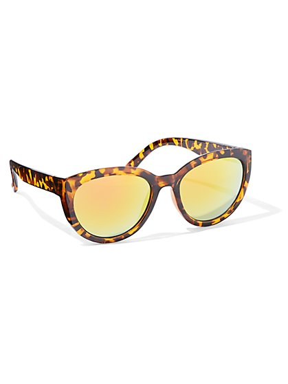 Cat-Eye Faux-Tortoise Sunglasses - New York & Company