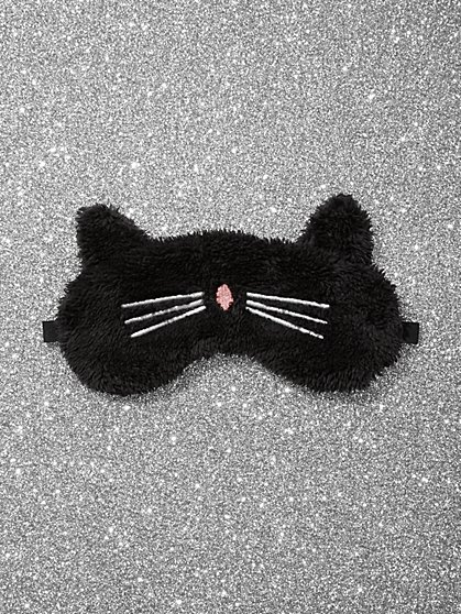 Cat Faux-Fur Eye Mask - New York & Company