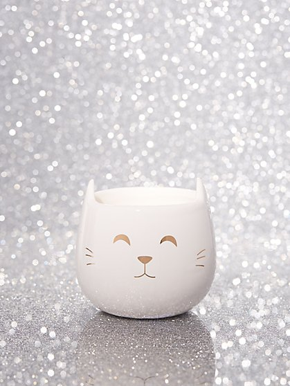 Ceramic Cat Candle - New York & Company