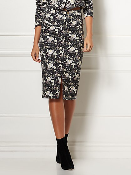 Cerena Floral Denim Skirt - Eva Mendes Collection - New York & Company