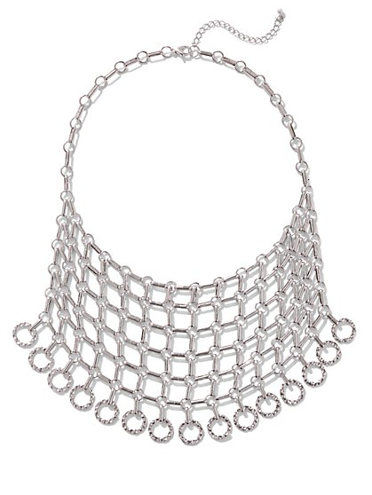 Chain-Link Bib Statement Necklace - New York & Company