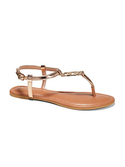 Chain Link Thong Sandal - New York & Company