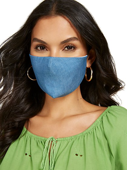 Chambray Face Mask - New York & Company