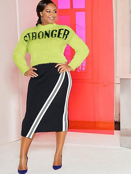 "Chartreuse ""Stronger"" Sweater - Gabrielle Union Collection - New York & Company"