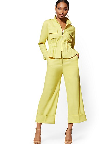 93d29a862a4 Chartreuse Wide-Leg Pant - 7th Avenue - New York   Company ...