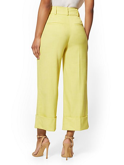 8f005dae0305 ... Chartreuse Wide-Leg Pant - 7th Avenue - New York & Company