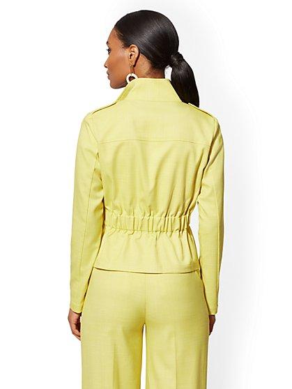 3d09d8b17d ... Chartreuse Zip-Front Jacket - 7th Avenue - New York & Company