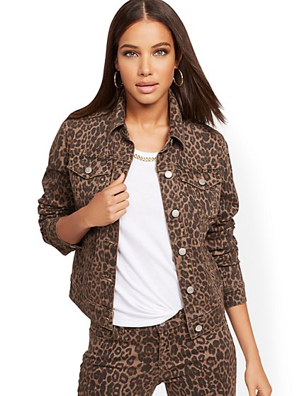 Cheetah Denim Jacket - New York & Company