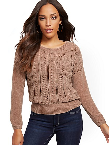 Chenille Open-Stitch Sweater - New York & Company
