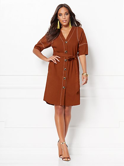 Christie Linen Shirtdress - Eva Mendes Collection - New York & Company