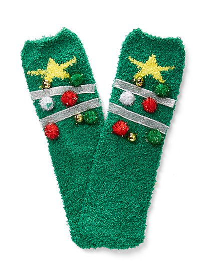 Christmas Tree Cozy Sock - New York & Company