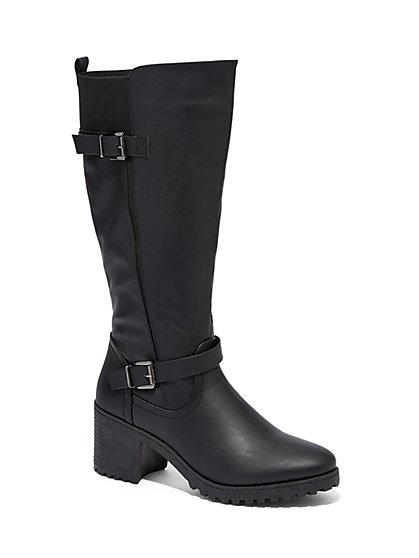 Chunky-Heel Riding Boot - New York & Company