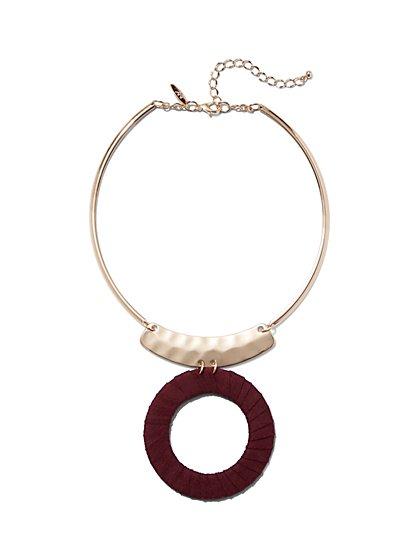 Circle Pendant Collar Necklace - New York & Company