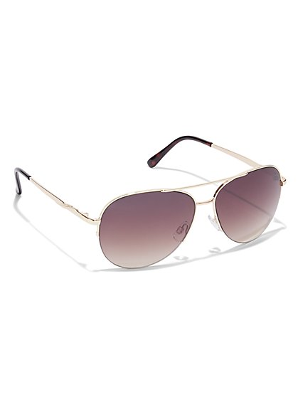 Classic Aviator Sunglasses - New York & Company