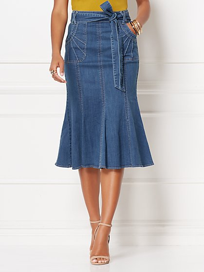 Claudine Denim Skirt - Eva Mendes Collection - New York & Company