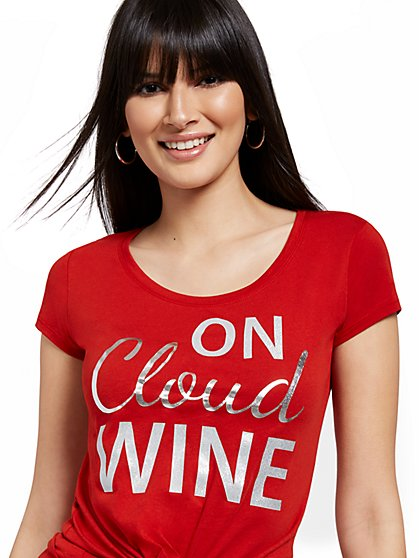 Cloud Wine Graphic Tee - New York & Company